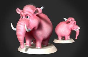 teen elephant 3d model