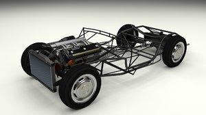 mercedes 300sl chassis obj