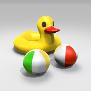 duck float 3d model