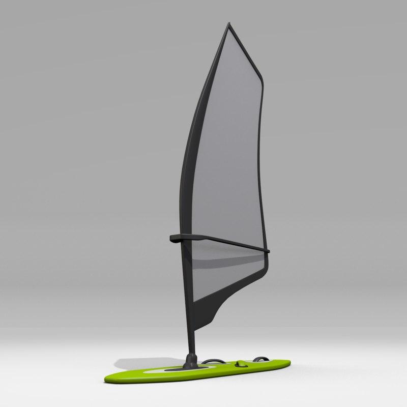 3ds max windsurfing wind surf