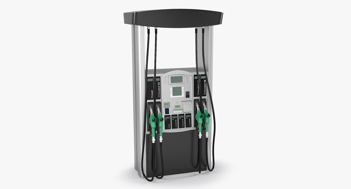3d realistic fuel dispenser