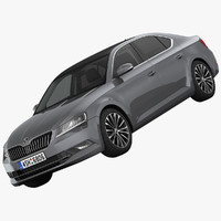 3d model skoda superb car