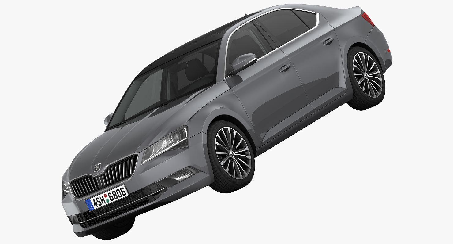3d model skoda superb car