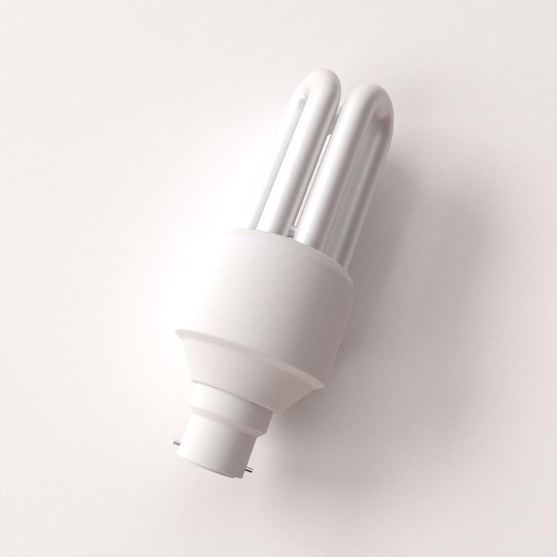 cfl bulb 3d model