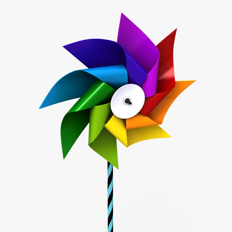 3d pinwheel wheel pin