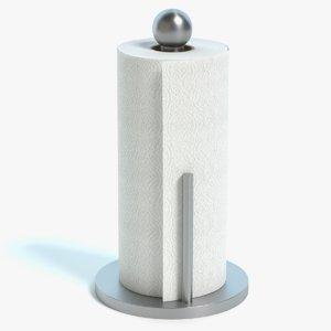 3d roll paper towels holder
