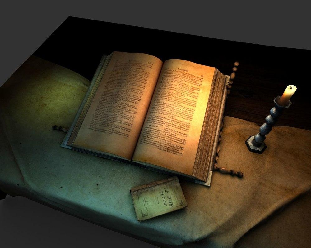 3d old bible model