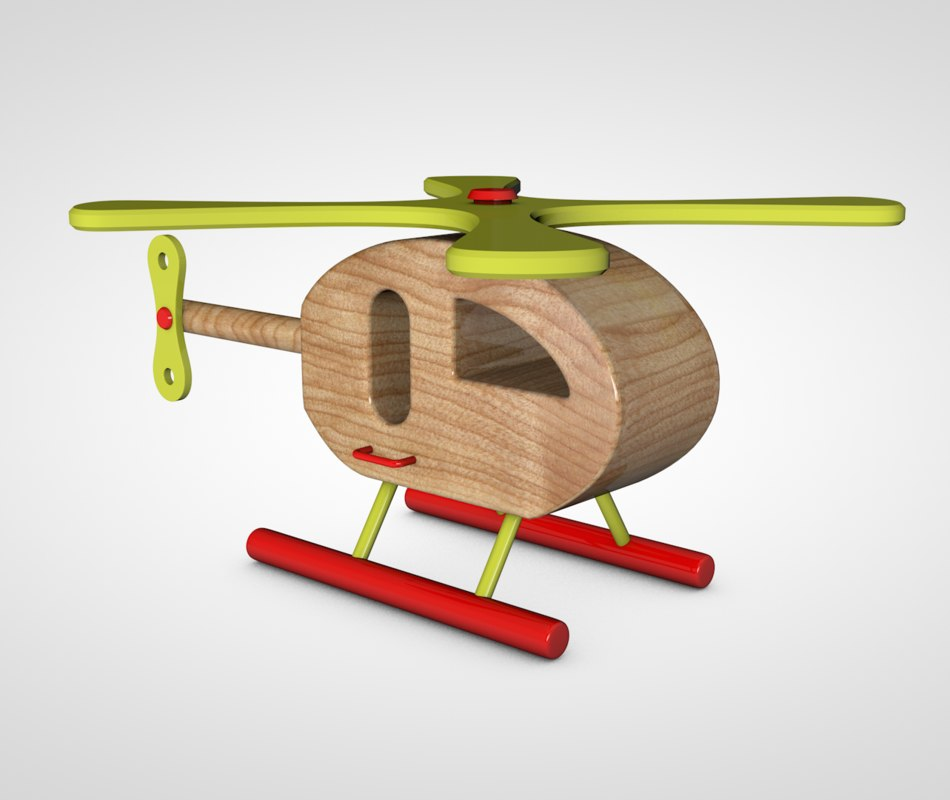 c4d toy helicopter