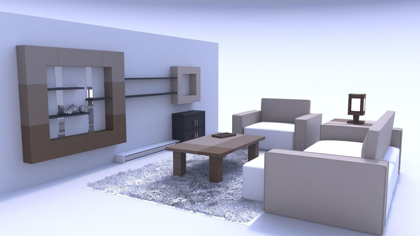 3d living room furniture