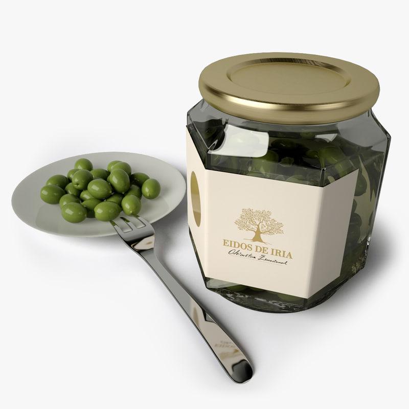 olives dish obj