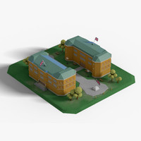 School (Low Poly)