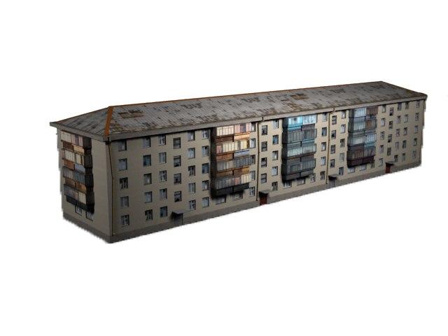 3d five-story building
