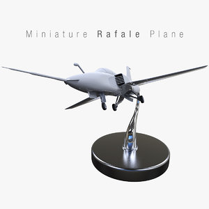 3ds max miniature rafale plane