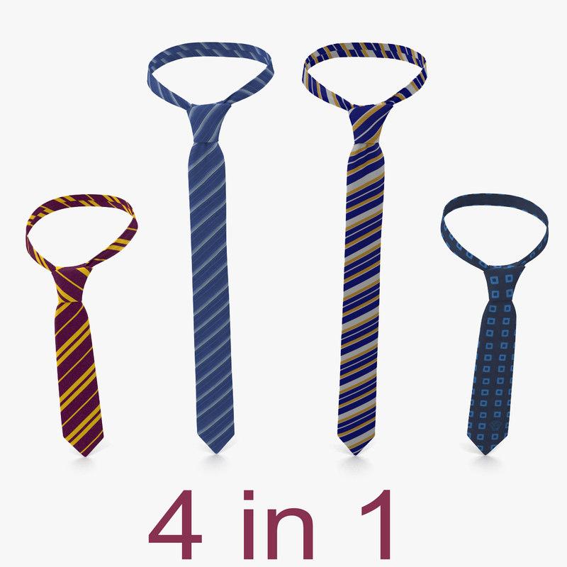 ties 3 modeled 3d max