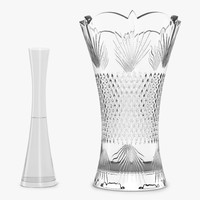 3d model vases set interior