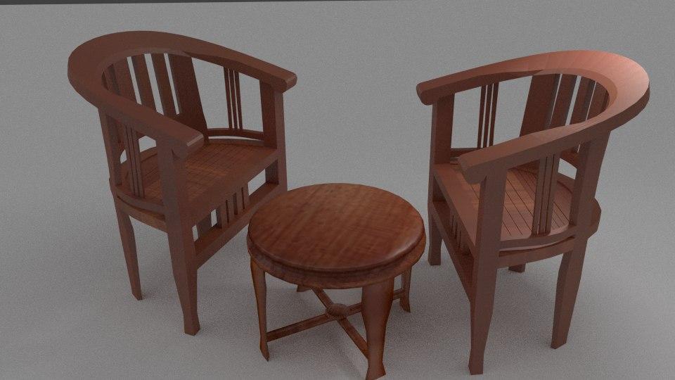 table set 3d blend