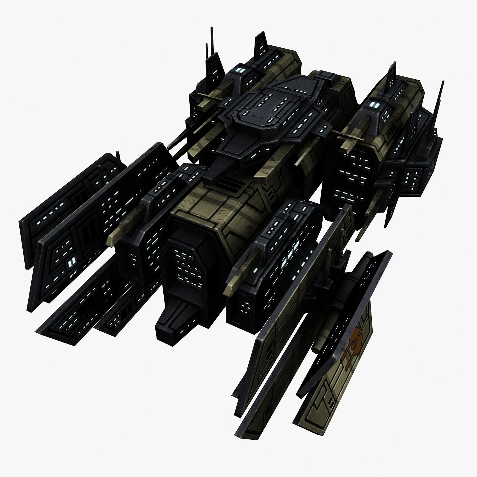 space ship 3d 3ds
