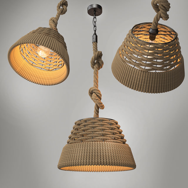 3d 2015 pendant loft lighting model