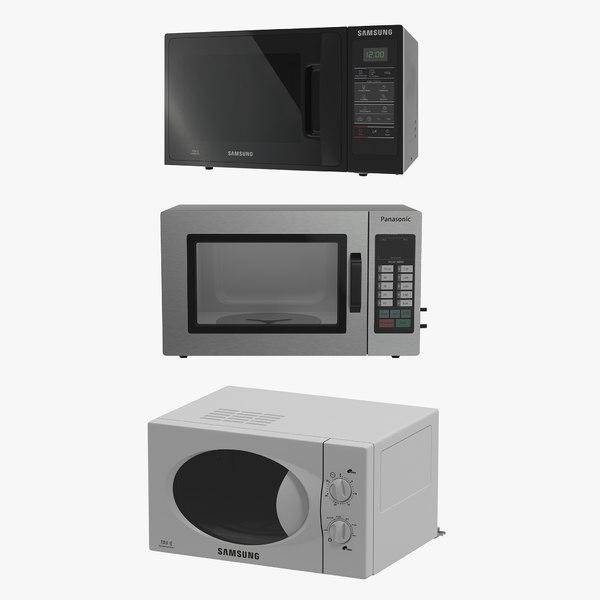 3d microwave ovens 2 modeled model