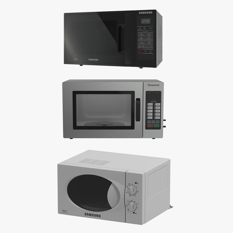 3d microwave ovens 2 modeled model