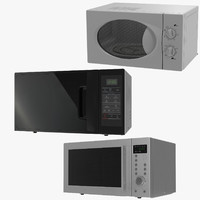 Microwave Ovens Generic 3D Models Collection 2