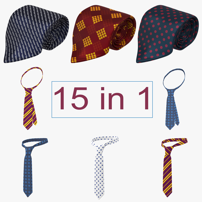 3d ties modeled