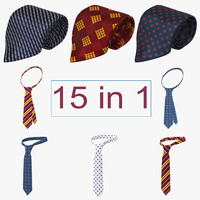 ties set 3d 3ds