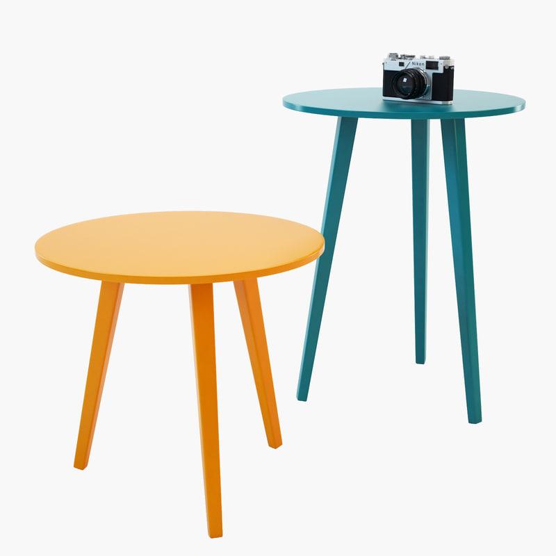 3ds max novamobili trio coffee table