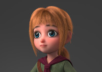 Cartoon Girl Rigged