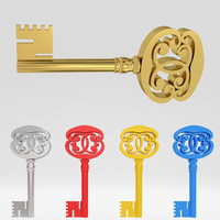 Ancient old luxury key 48