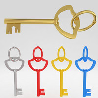 ancient old luxury key 3d max