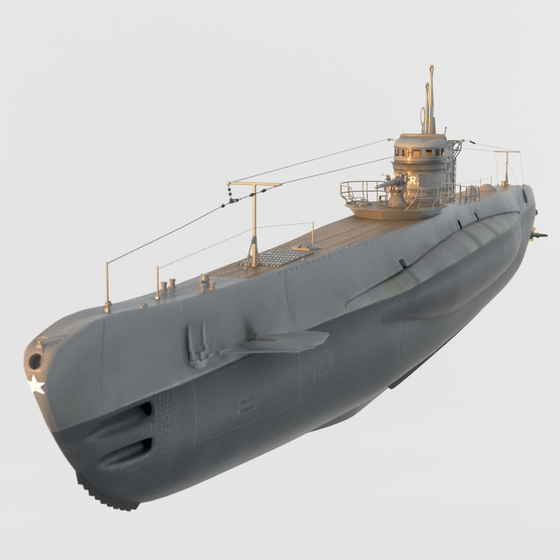 submarine leonardo da vinci 3d max