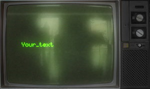 Old screen typing AE precomp Matrix style
