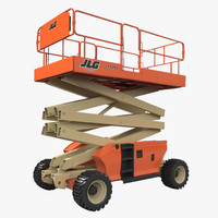 Engine Powered Scissor Lift JLG Rigged