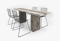 table sculpted 3d max