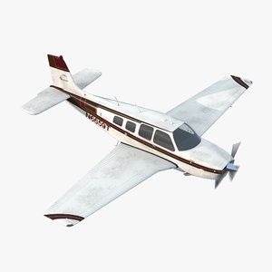 beechcraft bonanza ried 3d model