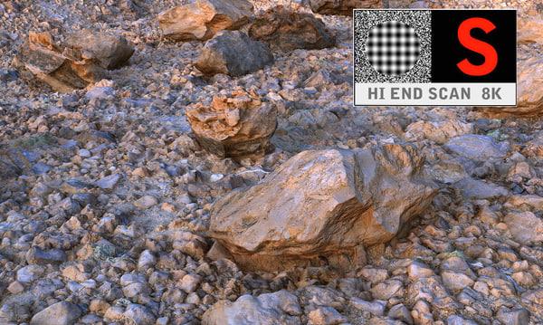 3d model volcanic desert area scanned