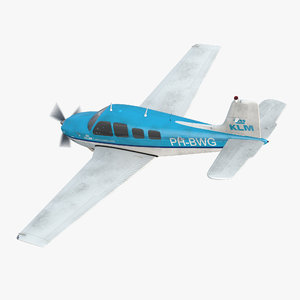 3d model beechcraft bonanza 3 rigged
