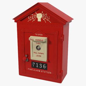 3d alarm box model