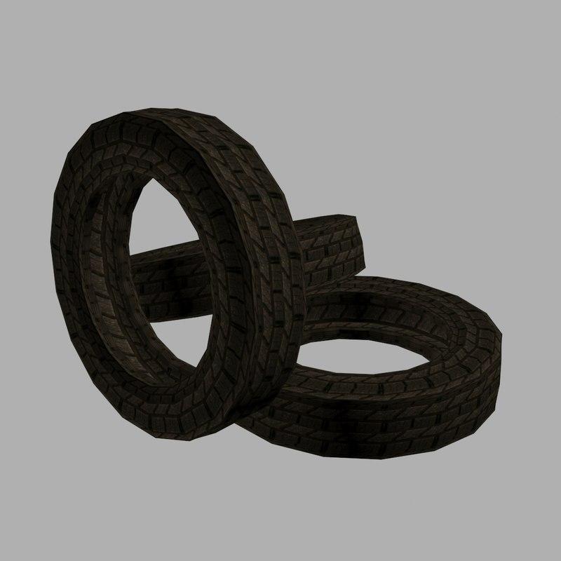 3d model car tire