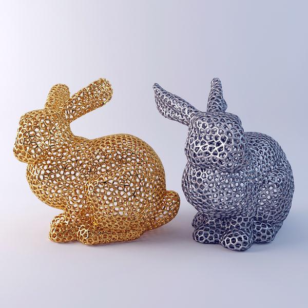 3d bunny voronoi