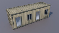 office roome container 3d 3ds