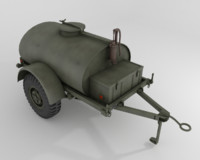 Military water/fuel cistern trailer