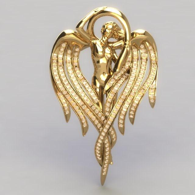angel pendant stones 3dm