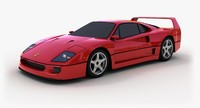 3d model classic ferrari f40