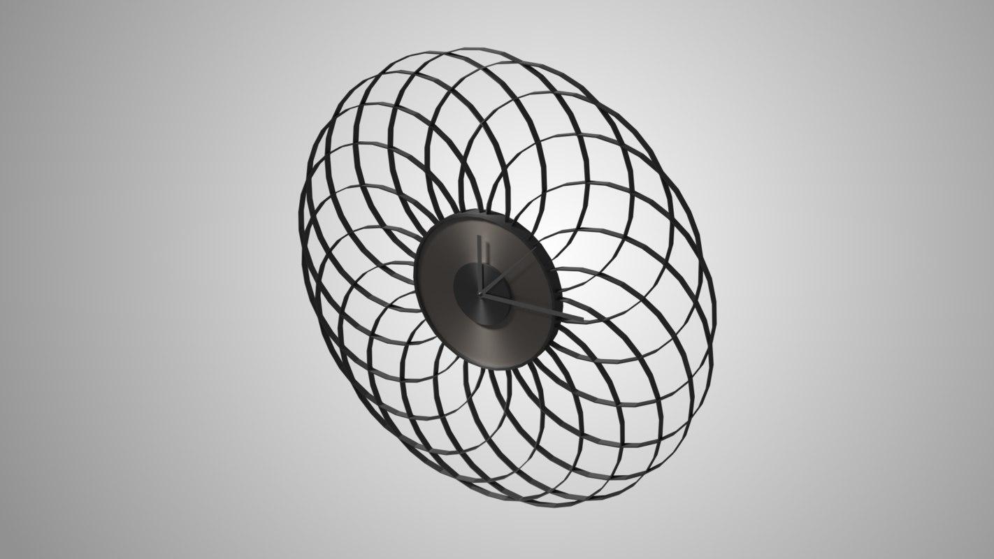 3d stylish wall clock model