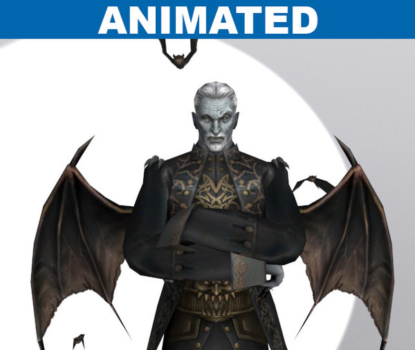 animations vampire bat lord 3d max