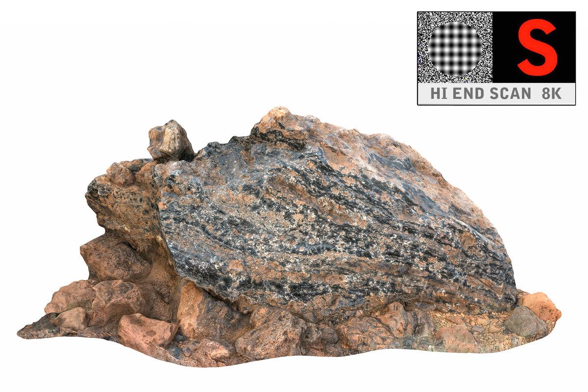 obj gigantic volcanic stone 8k