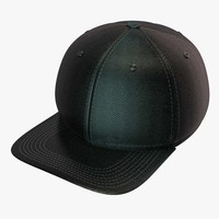 3d model of black baseball cap