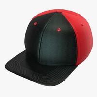 c4d black red baseball cap